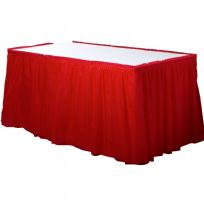 Apple Red Plastic Table Skirt